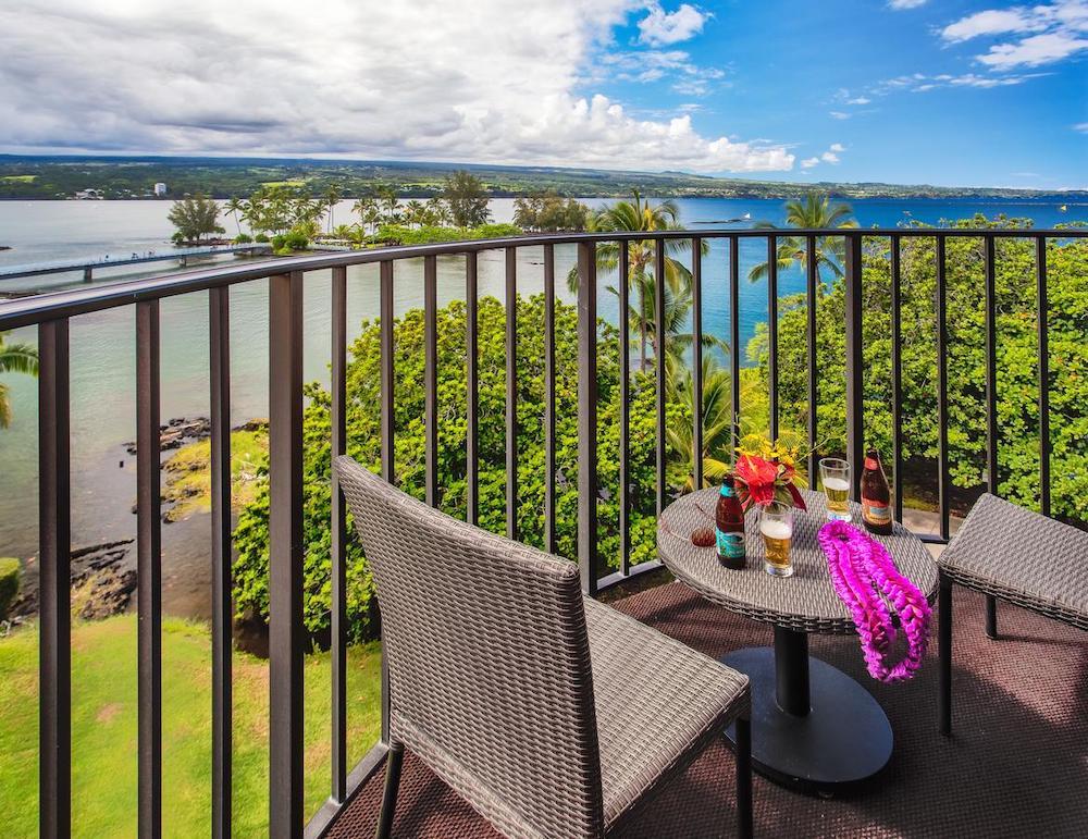 ハワイ島(ヒロのホテルからの眺め)